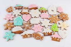 Gingerbread on white backround stock photo