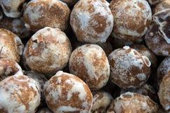 Gingerbread with white sugar glaze. Romanian traditional gingerbread with cinnamon and white sugar glaze Royalty Free Stock Photography