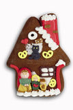 Gingerbread witches house on white background Stock Photography
