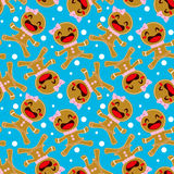 Gingerbread Woman Seamless Pattern Royalty Free Stock Photography
