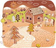 Gingerbread world Royalty Free Stock Photos