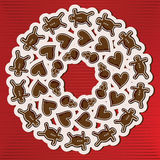 Gingerbread wreath Stock Image