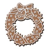 Gingerbread wreath Royalty Free Stock Photo