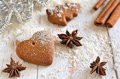 Gingerbread Xmas heart Stock Images