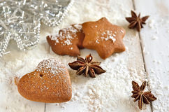 Gingerbread Xmas heart Stock Photo