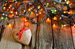 Gingerbread Xmas heart Stock Photos