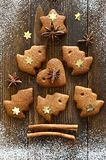 Gingerbread Xmas tree Stock Photo