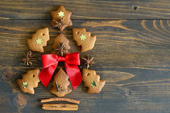 Gingerbread Xmas tree Stock Images