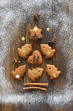 Gingerbread Xmas tree Royalty Free Stock Photo