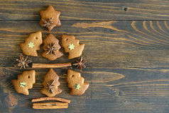 Gingerbread Xmas tree Stock Photography