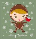 gingerbreadman的圣诞节 库存图片