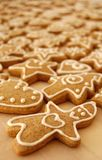 Gingerbreads. Gingerbread made for Christmas present with special Christmas forms, stars, figures, christmas trees, hearts Stock Photos