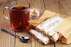 Gingerbreads And Cup Of Tea Royalty Free Stock Photography