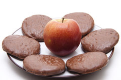 Gingerbreads with apple Royalty Free Stock Photography
