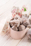 Gingerbreads with chocolate  and coconut Royalty Free Stock Photography