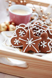 Gingerbreads with coffee Royalty Free Stock Image