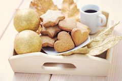Gingerbreads with coffee Stock Photo