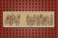 Gingerbreads. Cute Christmas Card with Gingerbreads Letters Royalty Free Stock Photo