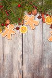Gingerbreads and fir tree Stock Photo