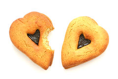 Gingerbreads in heart shapes Stock Image