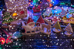 Gingerbreads for new years and christmas Stock Image