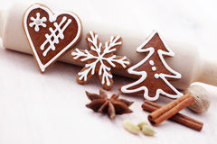 Gingerbreads with spices Stock Photography