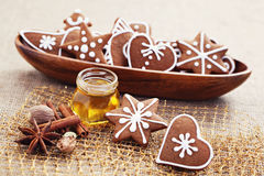 Gingerbreads with spices Royalty Free Stock Image