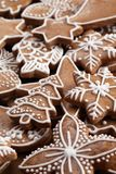 Gingerbreat. Close-up of Christmas gingerbread cookies royalty free stock photo