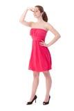 Gingerish woman in pretty dress Stock Photos