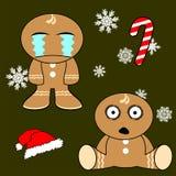 Gingerman cartoon xmas set2 Royalty Free Stock Images