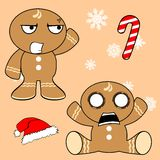 Gingerman cartoon xmas set3 Stock Photo
