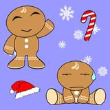 Gingerman cartoon xmas set4 Stock Images