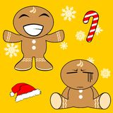 Gingerman cartoon xmas set6 Stock Photo