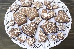 Gingerman kakor i asken Fotografering för Bildbyråer