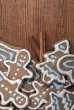 Gingerman kakor i asken Arkivbild