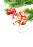 Gingerman kakor i asken Julmatgarneringar arkivfoto
