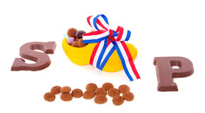 Gingernuts and chocolate Royalty Free Stock Photos