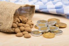 Gingernuts et cents de chocolat Images libres de droits