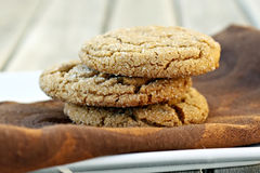 Gingersnap Cookies Royalty Free Stock Photos