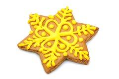 Gingersnap in Form eines Sternes handarbeit lizenzfreie stockfotos