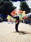 Ginggala dance. Bird dance. Stock Photo