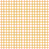 gingham żółty Zdjęcie Stock