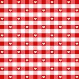 gingham καρδιές άνευ ραφής Στοκ Εικόνα