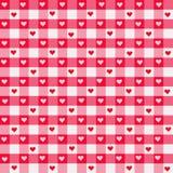 gingham καρδιά Στοκ φωτογραφία με δικαίωμα ελεύθερης χρήσης