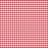 gingham κόκκινος άνευ ραφής Στοκ Φωτογραφία
