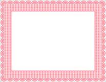 gingham πλαισίων Στοκ φωτογραφίες με δικαίωμα ελεύθερης χρήσης