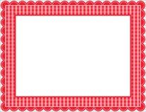 gingham πλαισίων Στοκ Εικόνες