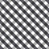 Μαύρο gingham υπόβαθρο Στοκ Εικόνες