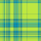 Gingham σύσταση στο μπλε και πράσινος Στοκ φωτογραφίες με δικαίωμα ελεύθερης χρήσης