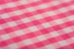 gingham ανασκόπησης ροζ Στοκ Εικόνα